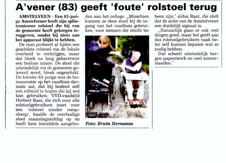 2006-2-8 Amstelveens Nieuwsblad Herbert Raat