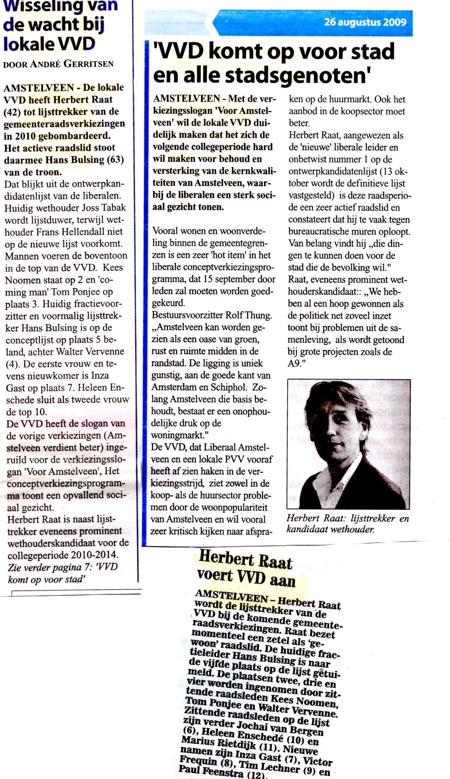 2009-26-8 Lijsttrekker voor de VVD-Amstelveens Nieuwsblad en Weekblad (2)