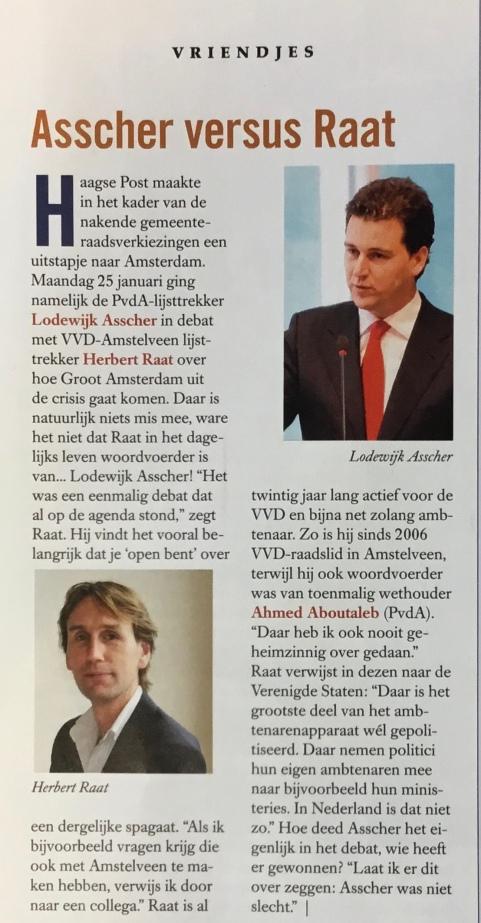 2010-12-2: HP DE TIJD: over debat en band Lodewijk Asscher en Herbert Raat