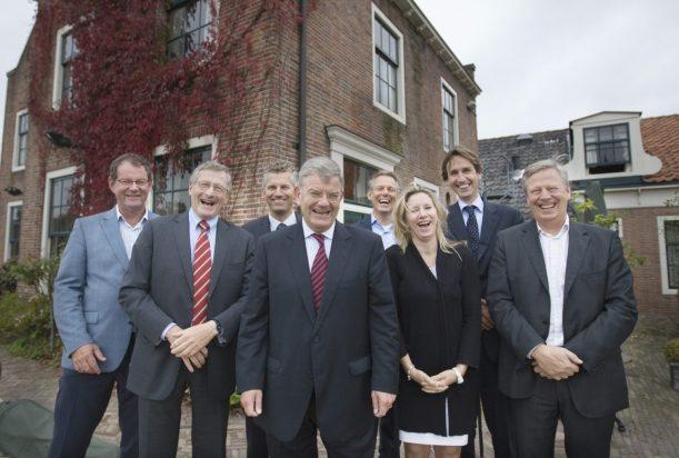 2011 Heidag in het Jagershuis-college van B&W Amstelveen-Rein Schurink John Levie-Jan Willem Groot-Jan Van Zanen-Bert Winthorst-Jacqueline Koops-Herbert Raat-en Herbert Kohler