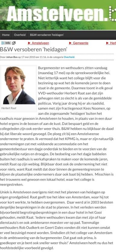 2010-17-5 Amstelveenblog.nl; Herbert Raat over heidag college B&W in Amstelveen