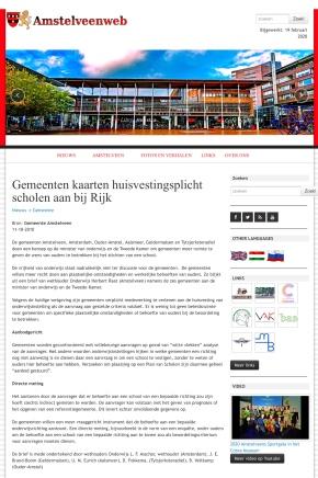 2010-11-10; Amstelveenweb.com: Brief Herbert Raat, Lodewijk Asscher en anderen aan de Tweede Kamer over huisvestingsplicht onderwijs.