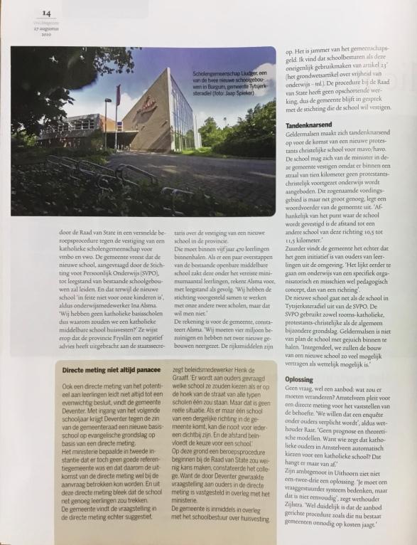 2010-27-8; VNG-Magazine: wethouder Herbert Raat over verzet gemeenten tegen huisvestingsplicht nieuwe scholen 2 van