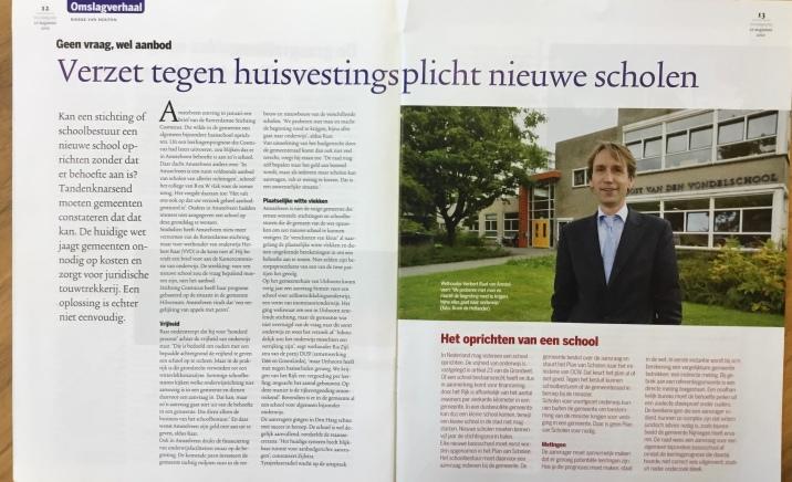 2010-27-8; VNG-Magazine: wethouder Herbert Raat over verzet gemeenten tegen huisvestingsplicht nieuwe scholen 1 van