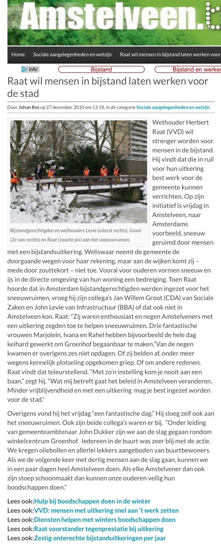 2017-december AmstelveenBlog.nl over iets terug doen voor je uitkerin