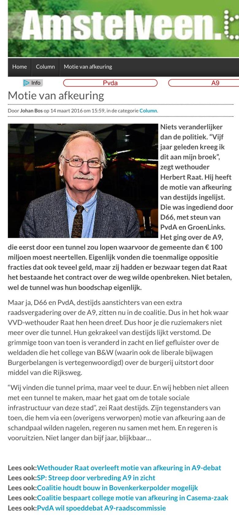 2016-14-3 Column Johan Bos over A9 Amstelveen op AmstelveenBlog.nl