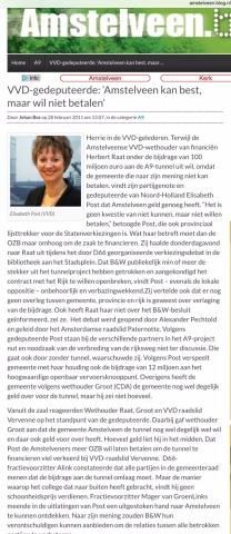 2011-28-2 Amstelveenblog.nl: Elisabeth Post over verhogen OZB Amstelveen
