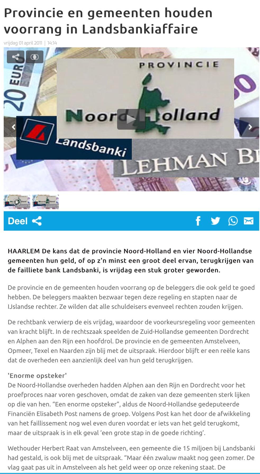 2011-1-4 RTV Noord Holland-Herbert Raat over Landsbanki Amstelveen