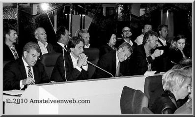 2010-college Amstelveen-Jan van Zanen, Herbert Raat, John Levie, jan Willem Groot, Jacqueline Koops