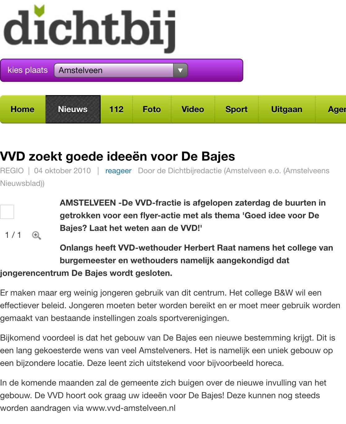 2010-4-10 Herbert Raat over nieuwe ideeën voor De Bajes in Amstelveen