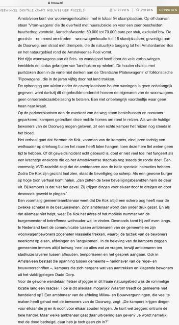 2010-15-5 Trouw Hans Werdmolder over woonwagens Amstelveen 2 van 6