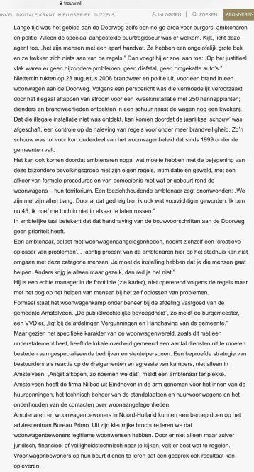 2010-15-5 Trouw Hans Werdmolder over woonwagens Amstelveen 4 van 6