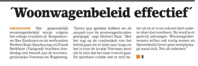 2018-1-8 Amstelveens Nieuwsblad woonwagens bezoek vn wethouders Herbert Raat en frank Berkhout en burgemeester Bas Eenhoorn 1 van 2
