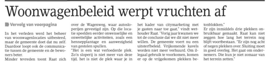 2018-1-8 Amstelveens Nieuwsblad woonwagens bezoek 1 van 2