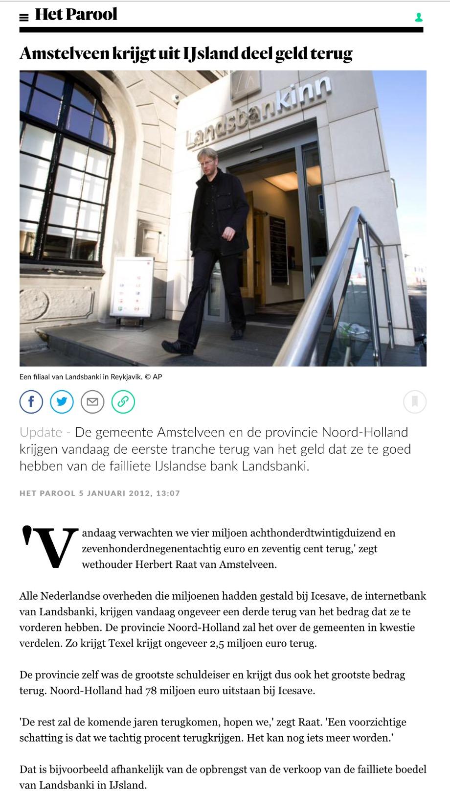 2012-Het Parool over Landsbanki Amstelveen Herbert Raat
