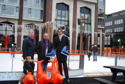 2012- Hans Gort, Frans Stuy en Herbert Raat in Stadshart Amstelveen