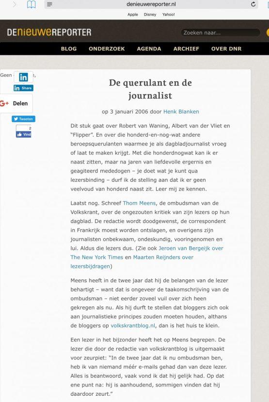 2006-De Nieuwe Reporter over Robert van Waning 1-3