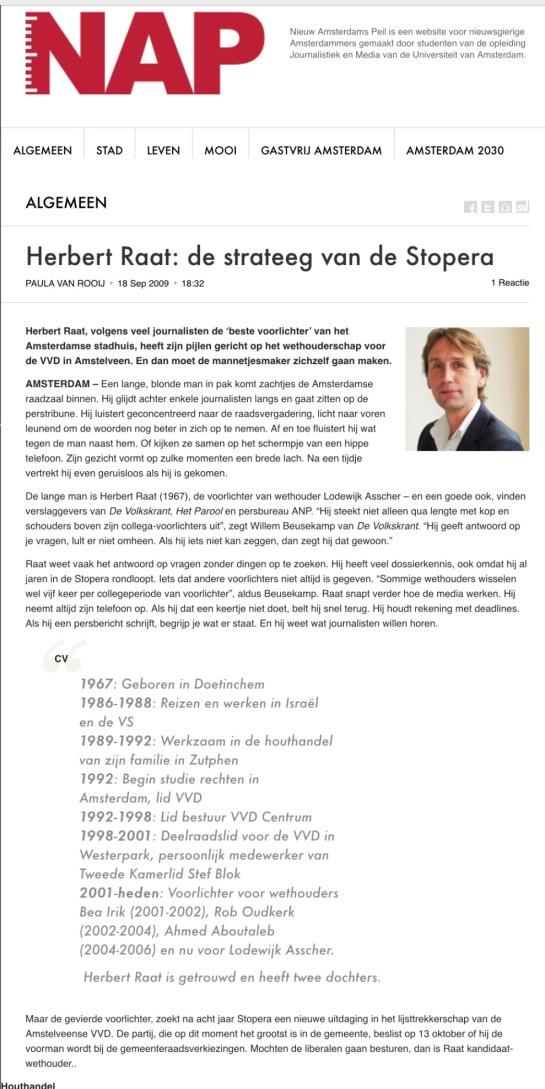 2010-18 September profiel Herbert Raat door Paula van Rooij NAPNieuws.nl (1-van 2