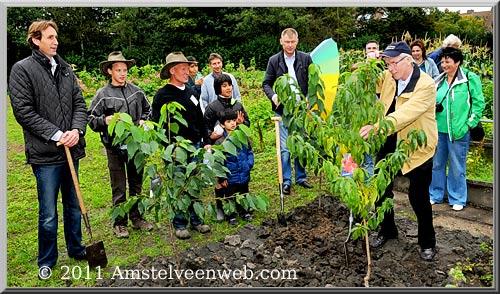 2011-gbeer-boomplant-Herbert Raat wethouder VVD amstelveen