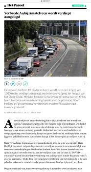 2013-23-9 Het Parool over verdiepte aanleg A9 Amstelveen