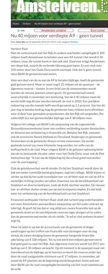 2013-24-9 Amstelveenblog.nlover verdiepte aanleg A9