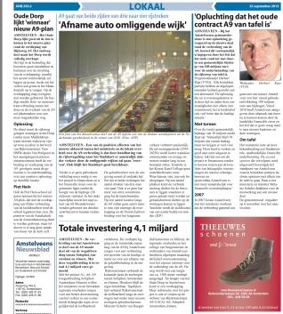 2103-25-9 Amstelveens Nieuwsblad; Herbert Raat over Verdiepte aanleg A9 pagina 3