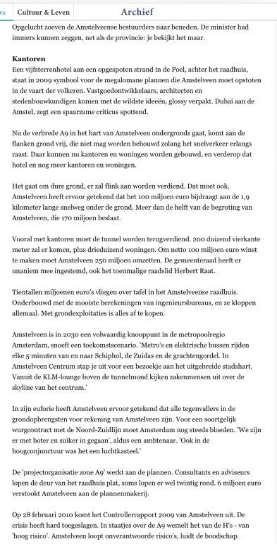 2013-6-11 De Volkskrant reconsructie A9 Amstelveen 2 van 4