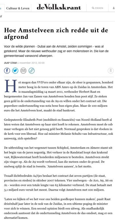 2013-6-11 De Volkskrant reconsructie A9 Amstelveen 1 van 4