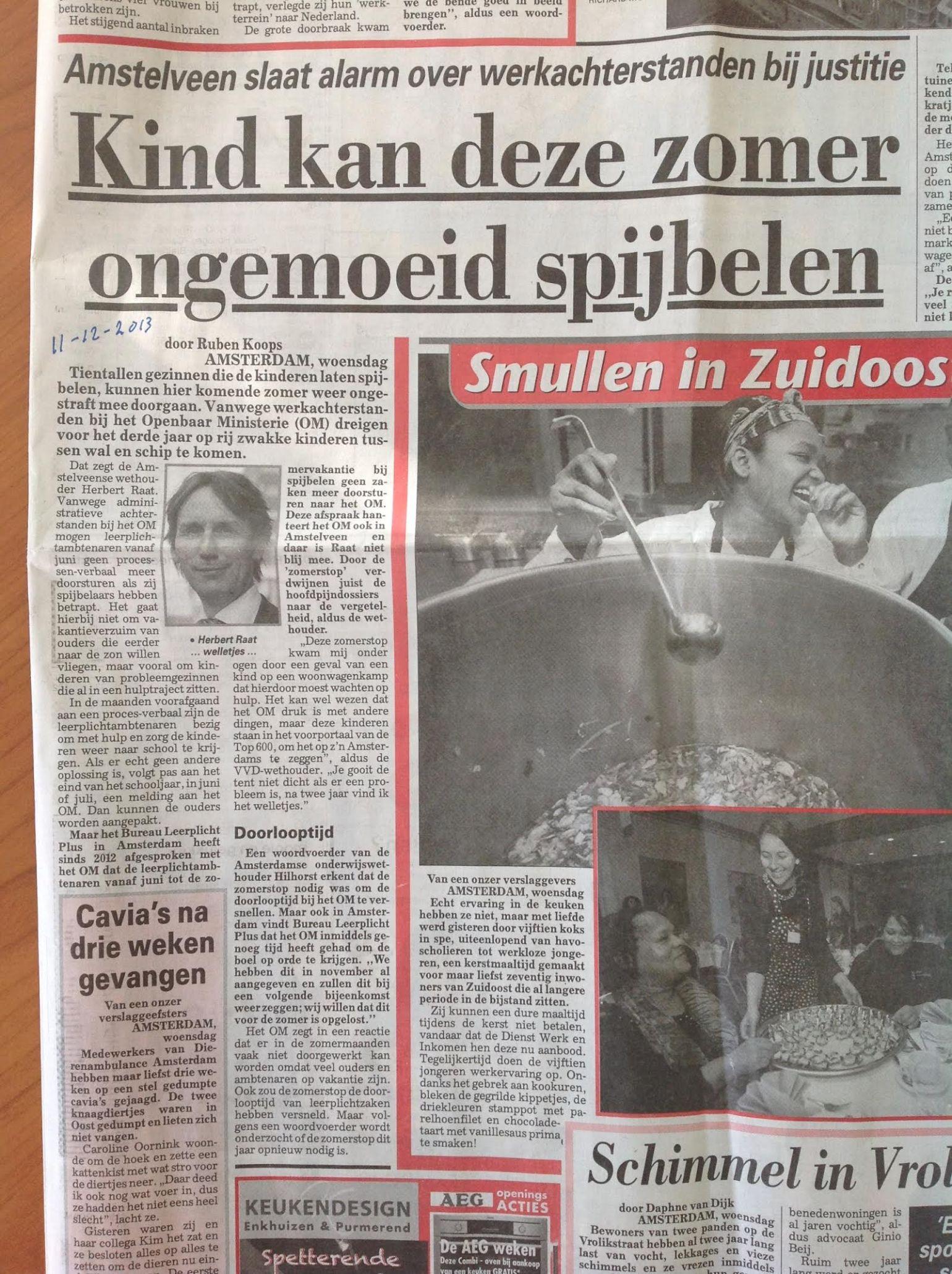 2013-telegraaf herbert raat leerplicht door Ruben Koops