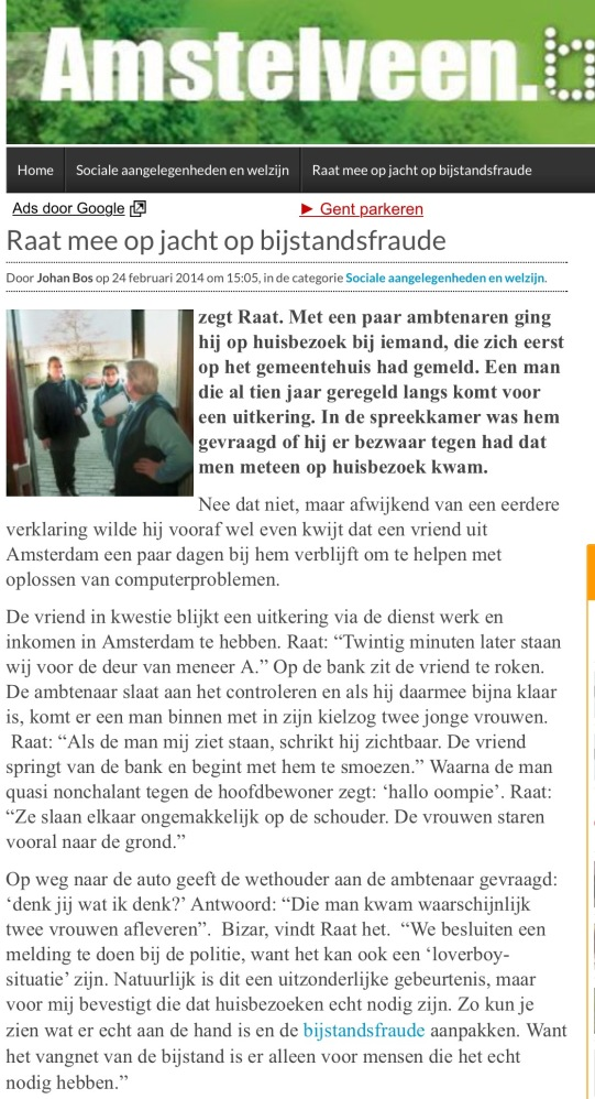 2014-24-2: AmstelveenBlog.nl Herbert Raat huisbezoek bijstand