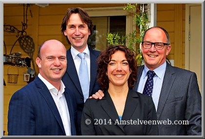 2014-college Amstelveen Jeroen Brandes, Herbert Raat-Maaike Veeningen Peter Bot