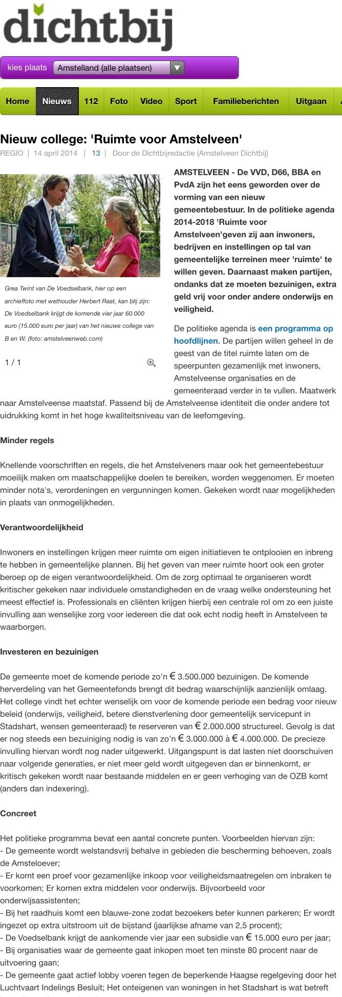 2014-14 april -AmstelveenDichtbij