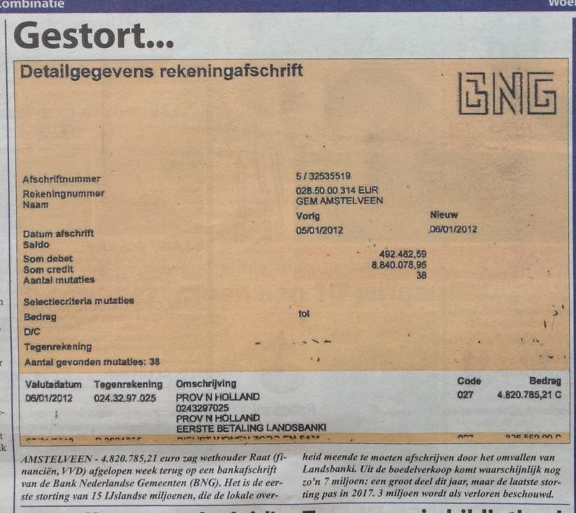 2012-voorpagina amstelveens nieuwsblad over betaling landsbanki aan amstelveen herbert raat