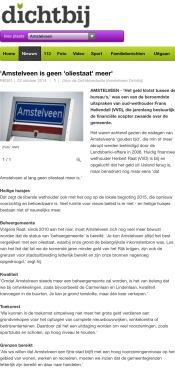 22-10-2014 AmstelveenDichtbij; Herbert Raat over terugkeer miljoenen Landsbanki naar Amstelveen