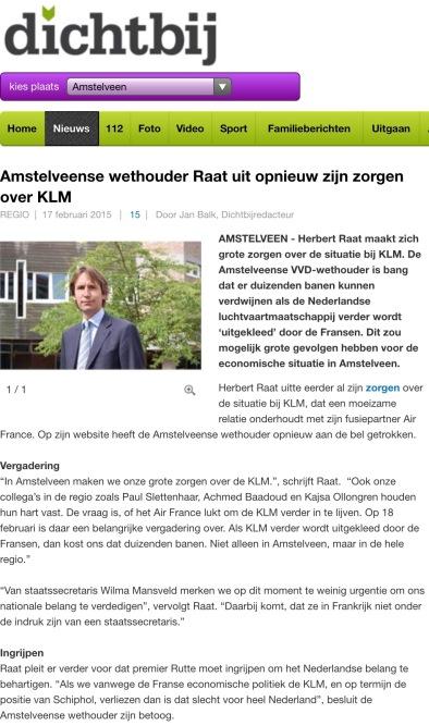 2015-17-2; Amstelveendichtbij; wethouder Herbert Raat over KLM