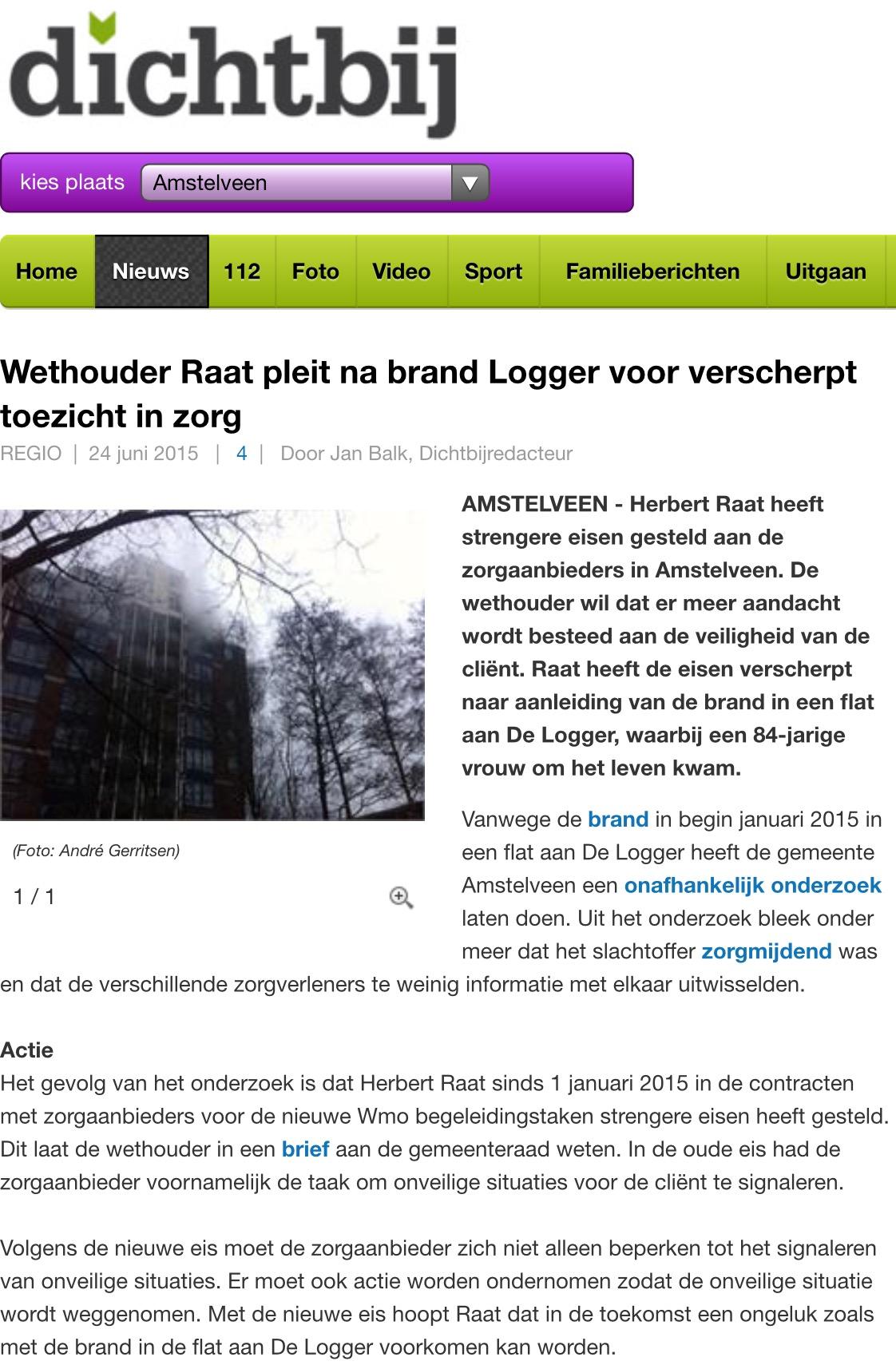 2015-24-6 Dichtbij; wethouder Herbert Raat over brand Logger