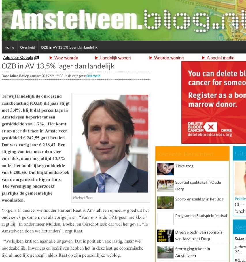 2015-4-3-Amstelveenblog.nl; Herbert Raat over OZB Amstelveen