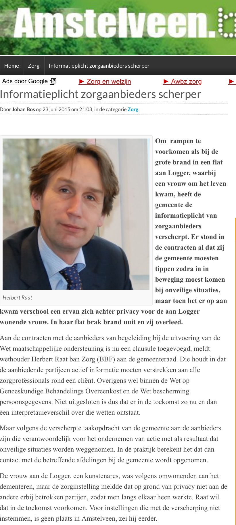 2015-juni brand logger wethouder Herbert Raat amstelveenblog.nl