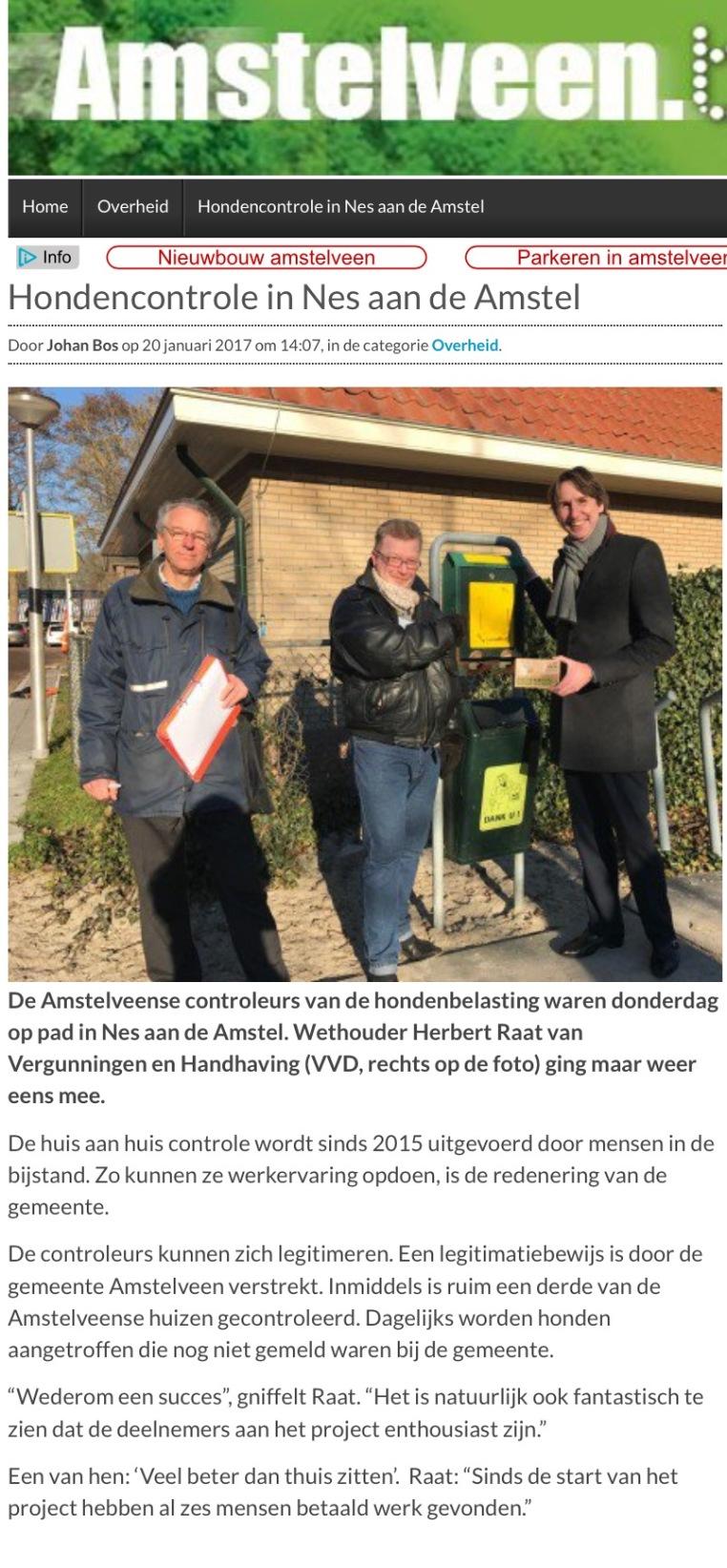 2017-20-1 AmstelveenBlog.nl controle hondenbelasting