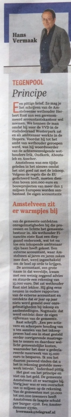 2015-Telegraaf hans vermaak column over brief PwC herbert raat