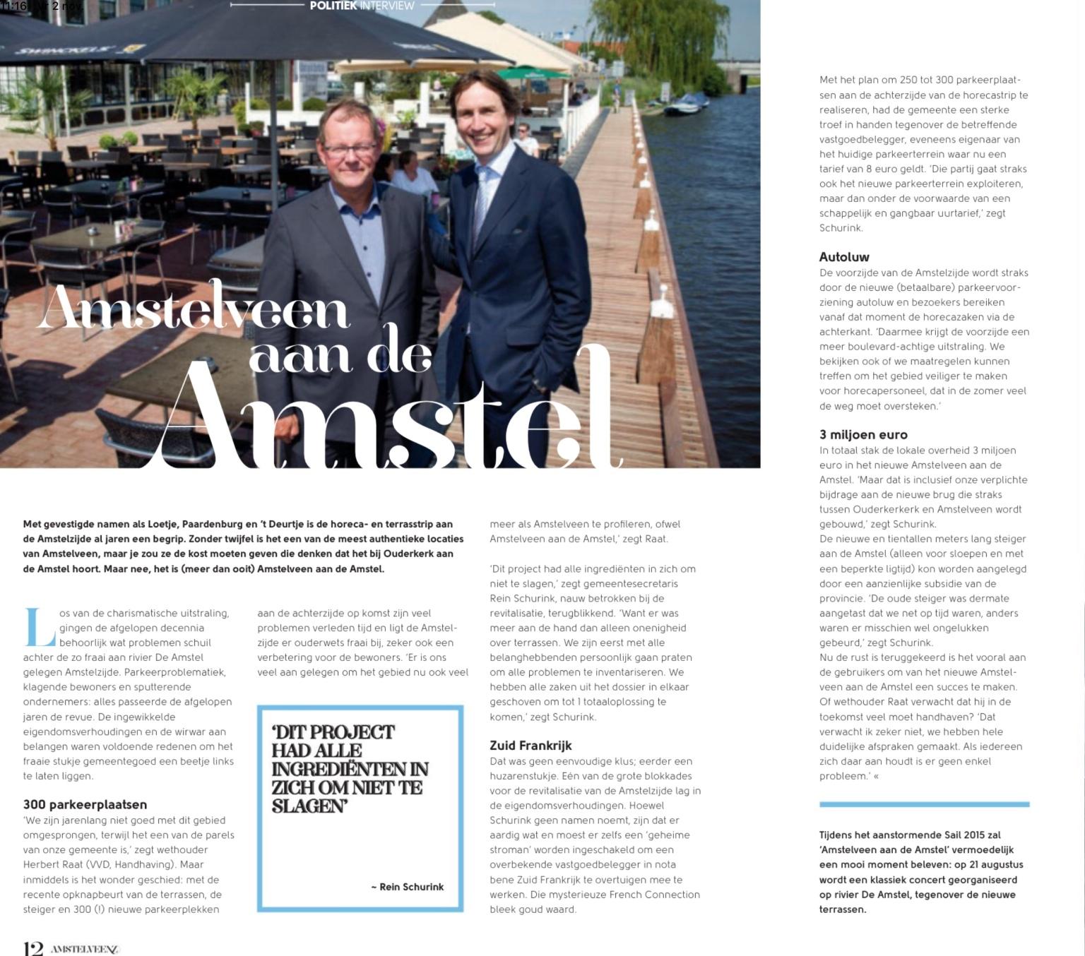 2015- Rein Schurink, Herbert Raat, Amstelveenz over Amstelveen aan de Amstel