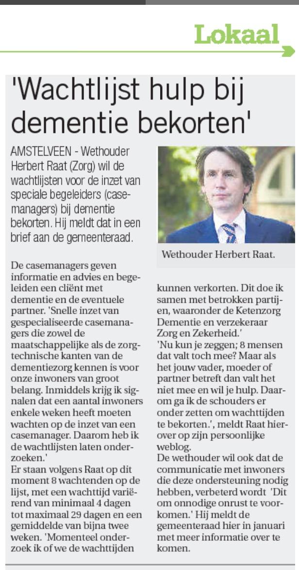 2015 30-12 artikel in AmstelveenDichtbij