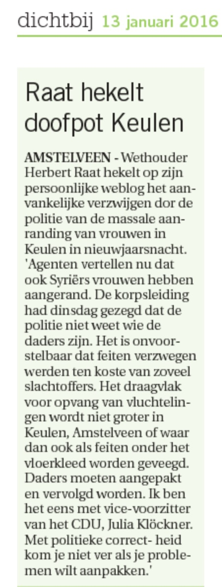 2013-13 -1 Artikel in AmstelveenDichtbij.