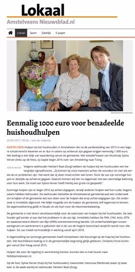 2017-Amstelveen Nieuwsblad artikel op de site