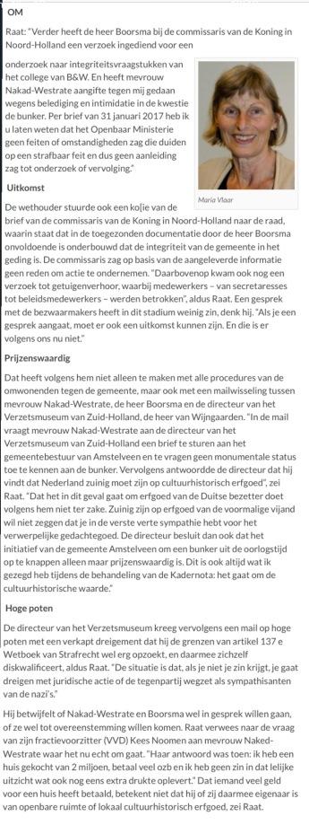 2017-19-4 AmstelveenBlog.nl over tegenstand van Nakad Westate en Eddy Boorsma tegen bunker vanwege waarde huis.2