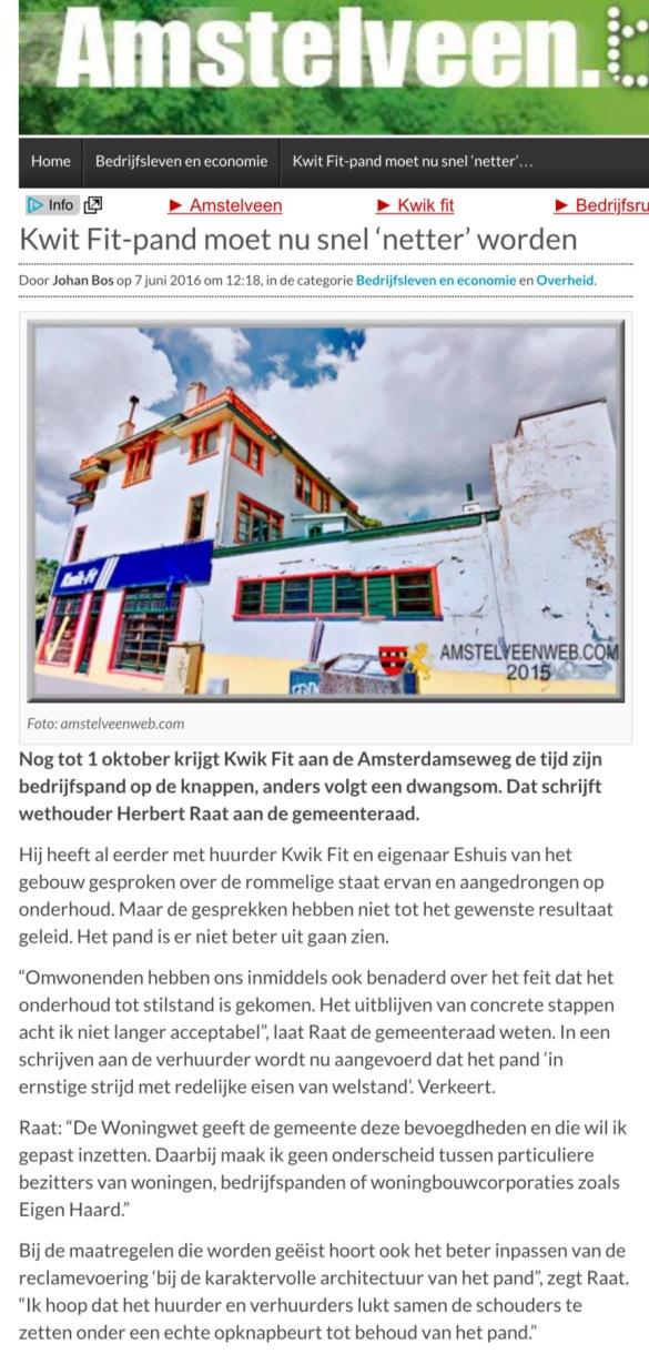 2016-Amstelveenblog.nl over Kwikfit pand