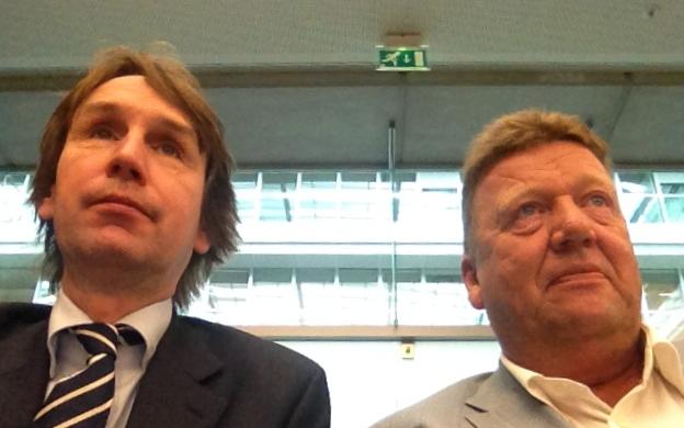 2014-Herbert Raat wethouder VVD Jaap Huizenga-Amstelveen Landsbanki overleg op ministerie