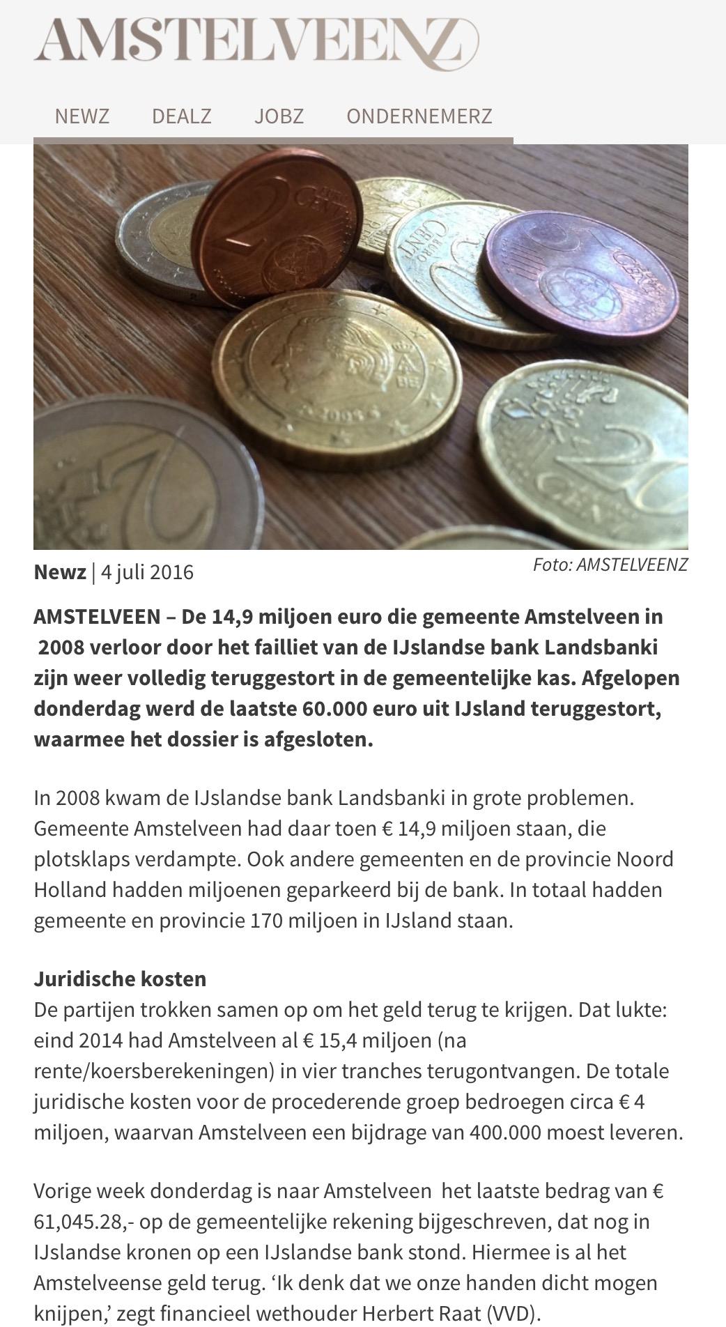 2016-4 juli Amstelveenz-Landsbanki