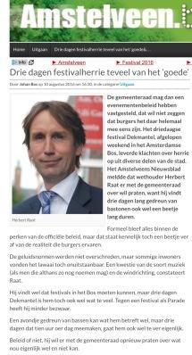 2016-10-8 AmstelveenBlog.nl; Herbert Raat over dekmantel