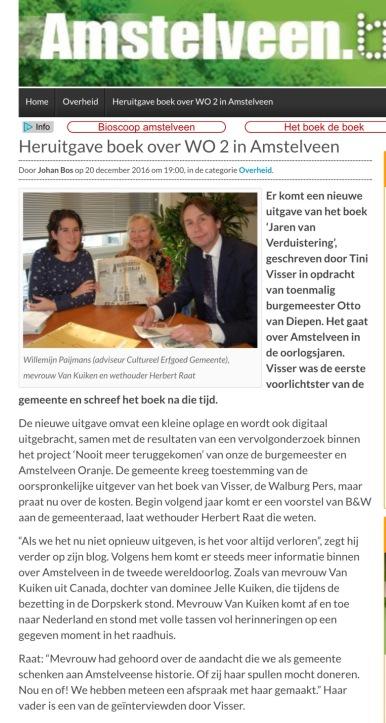 2016-21-12 AmstelveenBlog over Tini Visser